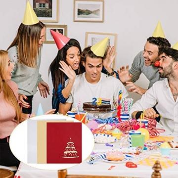 3D Geburtstagskarte, Pop Up Geburtstagskarten Grußkarte Geburtstag Karten mit 3 Schichten Kuchen, Gefaltete Happy Birthday Karte Glückwunschkarte Grußkarten mit Umschlag für Geburtstag Weihnachten - 7