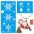 4 Sets Fenstersticker Weihnachten Fensterbilder Weihnachtsmann Schneeflocken Abnehmbare Fensterdeko Statisch Haftende PVC Aufkleber Fensterfolie für Weihnachtsdekoration Fenster Weihnachtsdeko - 2