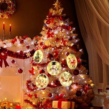 5 Stück Weihnachtsstern Beleuchtung, Weihnachtslichter Stern Fenster Stern Licht LED Lichterkette Außen Wasserdicht, für Zuhause, Neujahr, Hochzeit, Urlaub, Party, Warmes Weiß - 3