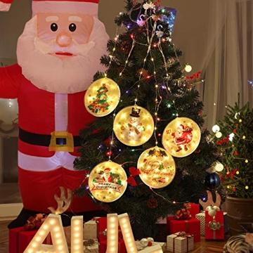 5 Stück Weihnachtsstern Beleuchtung, Weihnachtslichter Stern Fenster Stern Licht LED Lichterkette Außen Wasserdicht, für Zuhause, Neujahr, Hochzeit, Urlaub, Party, Warmes Weiß - 4