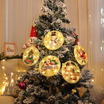 5 Stück Weihnachtsstern Beleuchtung, Weihnachtslichter Stern Fenster Stern Licht LED Lichterkette Außen Wasserdicht, für Zuhause, Neujahr, Hochzeit, Urlaub, Party, Warmes Weiß - 7