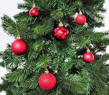 50 Christbaumkugeln 4cm und 6cm PVC Box ( rot ) // Weihnachtskugeln Baumkugeln Baumschmuck Weihnachtsdeko Kugeln - 3