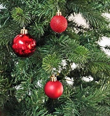 50 Christbaumkugeln 4cm und 6cm PVC Box ( rot ) // Weihnachtskugeln Baumkugeln Baumschmuck Weihnachtsdeko Kugeln - 4