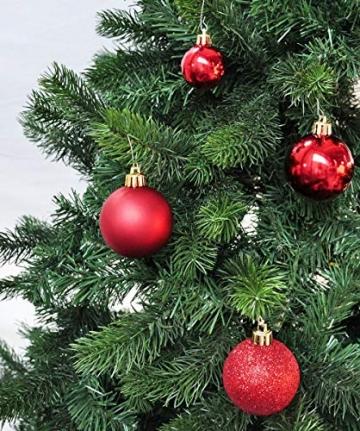 50 Christbaumkugeln 4cm und 6cm PVC Box ( rot ) // Weihnachtskugeln Baumkugeln Baumschmuck Weihnachtsdeko Kugeln - 6