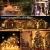 ACBungji 6M/10M LED Lichterkette Batteriebetriebene mit 80 LED Beleuchtung Weihnachtsbeleuchtung Warmweiß für Zimmer Außen/Innen Garten Dekoration Party Hochzeit Schaufenster (6M) - 3