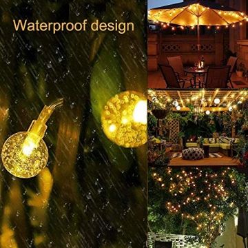 ACBungji 6M/10M LED Lichterkette Batteriebetriebene mit 80 LED Beleuchtung Weihnachtsbeleuchtung Warmweiß für Zimmer Außen/Innen Garten Dekoration Party Hochzeit Schaufenster (6M) - 5