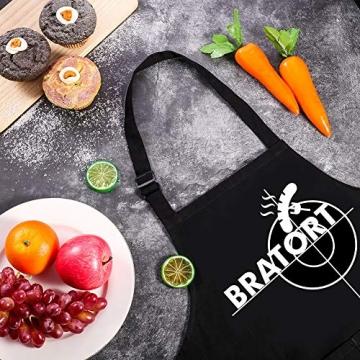 adakel Grillschürze Schwarz, Arbeitsschürze & Kochschürze Lustiges Geschenk für Männer und Hobbyköche zum Vatertag Weihnachten Geburtstag oder Grillparty - Bratort - 5