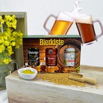 Altenburger Original Bierkiste - drei mit Bier verfeinerte Senfsorten als Geschenk-Set (3-teilig), Geschenkbox für Männer und Frauen - 3