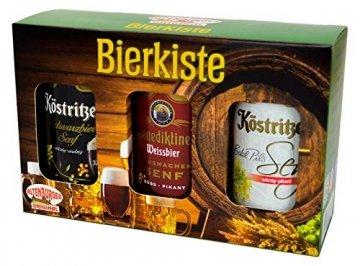 Altenburger Original Bierkiste - drei mit Bier verfeinerte Senfsorten als Geschenk-Set (3-teilig), Geschenkbox für Männer und Frauen - 1