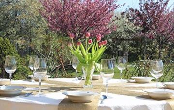 AmaCasa Vlies Tischläufer Gold 23cm/20 Meter Flower Vlies Tischband Hochzeit Kommunion - 4