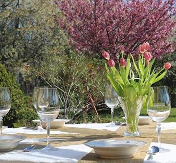 AmaCasa Vlies Tischläufer Gold 23cm/20 Meter Flower Vlies Tischband Hochzeit Kommunion - 5