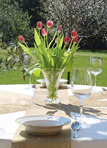 AmaCasa Vlies Tischläufer Gold 23cm/20 Meter Flower Vlies Tischband Hochzeit Kommunion - 6
