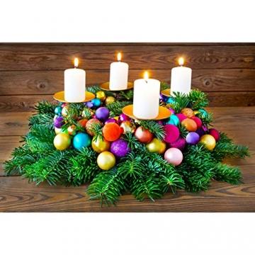 Annastore Kleine Baumkugeln aus Glas Ø 2 cm/2,5 cm/3 cm - Christbaumkugeln Baumschmuck Christbaumschmuck Weihnachtsbaumschmuck Weihnachtsbaumkugeln (2,5 cm, 24 Stück Rot (Glänzend)) - 2