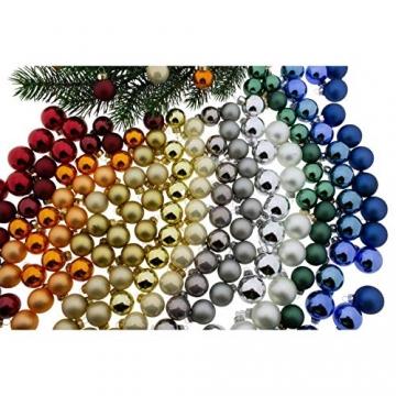Annastore Kleine Baumkugeln aus Glas Ø 2 cm/2,5 cm/3 cm - Christbaumkugeln Baumschmuck Christbaumschmuck Weihnachtsbaumschmuck Weihnachtsbaumkugeln (2,5 cm, 24 Stück Rot (Glänzend)) - 4