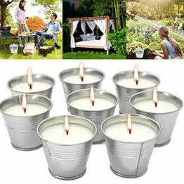 Anti Mücken Citronella Kerze Set 8, Anti Mücken Kerze Natürliches Sojawachs, funktionales Dekor und Sommergeschenk - Perfekt für Camping, Grillen, Picknicks, Garten, Schlafzimmer, Indoor Outdoor - 1