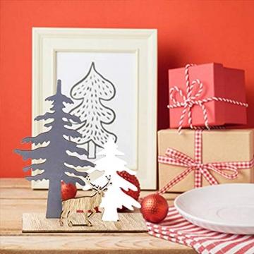Anyingkai 2pcs Holz Weihnachtsbaum Schneeflocke Elch Dekoration,Weihnachtsschmuck Holz,Weihnachtsholzschmuck,Deko Hirsche aus Holz,Weihnachten Deko - 7
