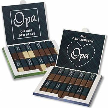Aufkleber-Set passend für Merci Schokolade -Bester Opa- mit vorgedruckten Aufklebern I selbstklebend I kreative Geschenk-Idee I Individuell I ohne Schokolade I dv_943 - 1