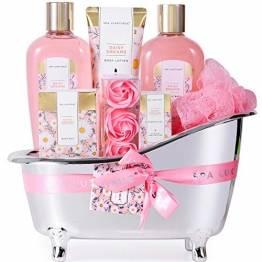 Bad Geschenkset, SPA LUXETIQUE Beauty Set für Sie 8-teiliges Geburtstagsgeschenk, Gänseblümchen Duft Spa Set, Wellness Set für Frauen, Bad Geschenke für Geburtstage und Feste - 1