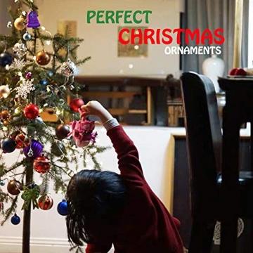 Baumkugeln 24 Stück Christbaumkugeln Weihnachtskugeln 3/4/6/8cm, Morbuy Kunststoff Weihnachtsbaumkugeln Plastik Bruchsicher, Weihnachtsbaumschmuck Weihnachtsdeko (3cm,Rose rot) - 5