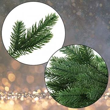 BB Sport Luxus Christbaum 120 cm Dunkelgrün künstlicher Weihnachtsbaum PE/PVC Spritzguss Mix Tannenbaum Standfuß - 2