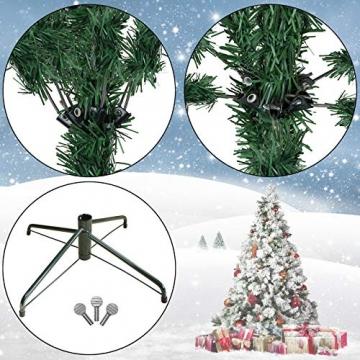BB Sport Luxus Christbaum 120 cm Dunkelgrün künstlicher Weihnachtsbaum PE/PVC Spritzguss Mix Tannenbaum Standfuß - 3