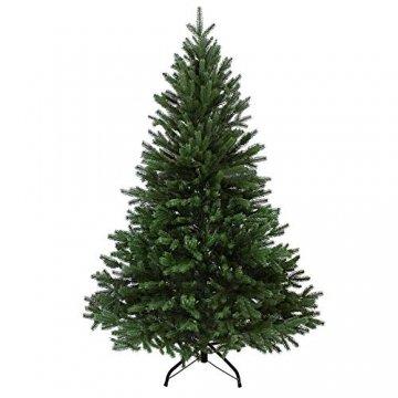 BB Sport Luxus Christbaum 120 cm Dunkelgrün künstlicher Weihnachtsbaum PE/PVC Spritzguss Mix Tannenbaum Standfuß - 1