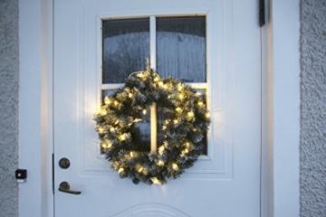 Best Season LED-Tannenkranz mit Schneedecor, beleuchtet circa Durchmesser 50 cm, 40 warmweiß Pisello LED Outdoor, Trafo Karton 612-27 - 3