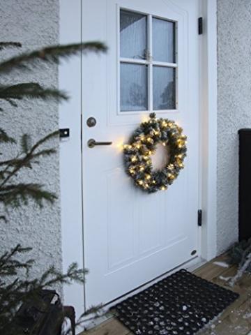 Best Season LED-Tannenkranz mit Schneedecor, beleuchtet circa Durchmesser 50 cm, 40 warmweiß Pisello LED Outdoor, Trafo Karton 612-27 - 4