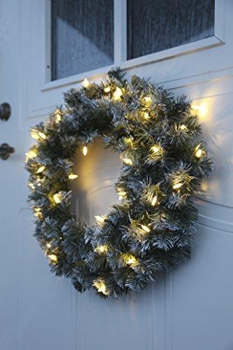 Best Season LED-Tannenkranz mit Schneedecor, beleuchtet circa Durchmesser 50 cm, 40 warmweiß Pisello LED Outdoor, Trafo Karton 612-27 - 5