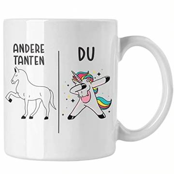 Beste Tante Geschenk Tasse mit Spruch Kaffeetasse für Tante - 1