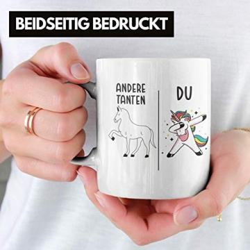 Beste Tante Geschenk Tasse mit Spruch Kaffeetasse für Tante - 2