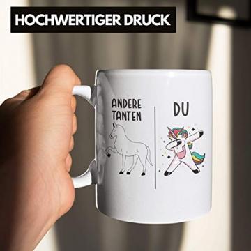 Beste Tante Geschenk Tasse mit Spruch Kaffeetasse für Tante - 5