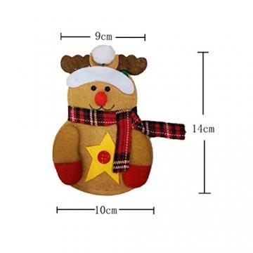 Besteckhalter für Weihnachten OULII Bestecktasche Weihnachtsdeko Tischdeko 6 Stück - 5
