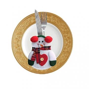 Besteckhalter für Weihnachten OULII Bestecktasche Weihnachtsdeko Tischdeko 6 Stück - 7