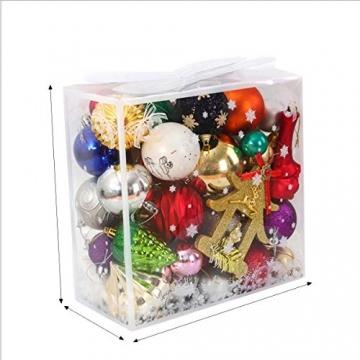 Binjor 40Pcs Christbaumkugeln Boxed Set Kunststoff bunt bruchsicher Wandbehang Ornamente Weihnachtskugeln Baumkugeln Weihnachtsbaum Kugeln Festival Dekore Glänzend Mischfarben Mehrere Stile - 2
