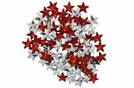 BOAHHH Rot/Silber Sterne, Streudeko. Sterne sind, wo wir sind! Verzaubern Sie Ihren Abend! (rot/Silber) - 1