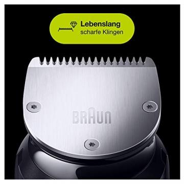 Braun 10-in-1-Trimmer MGK7220 Herren-Barttrimmer, Bodygrooming-Set und Haarschneider, grau/silber - 4