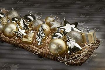 Brubaker 77-teiliges Set Weihnachtskugeln Christbaumschmuck - Kunststoff Gold/Silber - 5