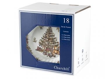 Churchill Season Greetings Tafelservice, Stone Ware, elfenbeinfarben, 18 Stück - 2