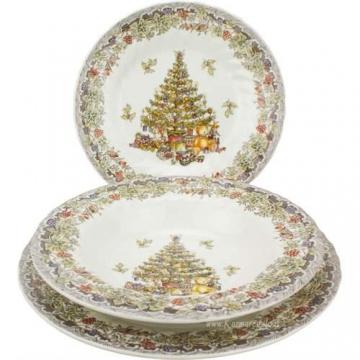 Churchill Season Greetings Tafelservice, Stone Ware, elfenbeinfarben, 18 Stück - 3