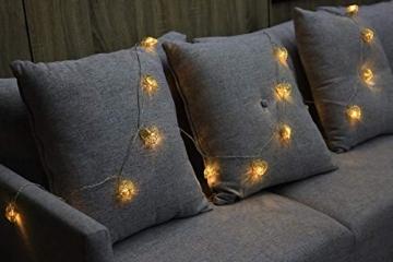 CozyHome LED Lichterkette Herz – 5m strombetrieben   20 Herzen warmweiß   Led Herz Strom   Tumblr Deko für: Mädchen Schlafzimmer, Hochzeit, Schminktisch   Rosa Gold Lichterketten mit Stecker - 7
