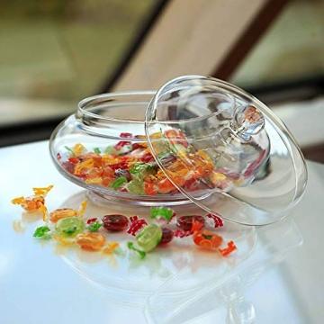 CRISTALICA Bonboniere Candy Famous 22cm Keksdose Gefäß mit Deckel Vorratsdose Klarglas - 2