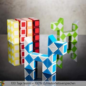 CUBIDI® 6 Mini Magic Snakes mit 24 Blöcken - Knobelspiele für Kinder und Erwachsene - Mitgebsel Kindergeburtstag oder kleine Geschenke für Kinder oder Kindergeburtstag Gastgeschenke - (6 Stück) - 3