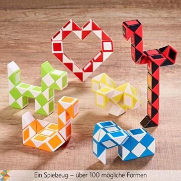 CUBIDI® 6 Mini Magic Snakes mit 24 Blöcken - Knobelspiele für Kinder und Erwachsene - Mitgebsel Kindergeburtstag oder kleine Geschenke für Kinder oder Kindergeburtstag Gastgeschenke - (6 Stück) - 4