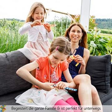 CUBIDI® 6 Mini Magic Snakes mit 24 Blöcken - Knobelspiele für Kinder und Erwachsene - Mitgebsel Kindergeburtstag oder kleine Geschenke für Kinder oder Kindergeburtstag Gastgeschenke - (6 Stück) - 6