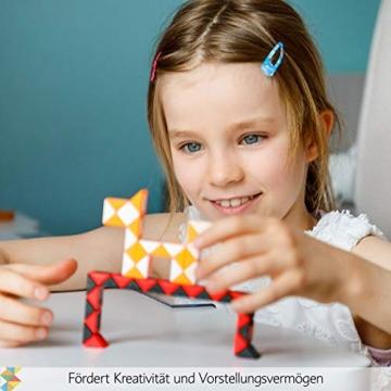 CUBIDI® 6 Mini Magic Snakes mit 24 Blöcken - Knobelspiele für Kinder und Erwachsene - Mitgebsel Kindergeburtstag oder kleine Geschenke für Kinder oder Kindergeburtstag Gastgeschenke - (6 Stück) - 7