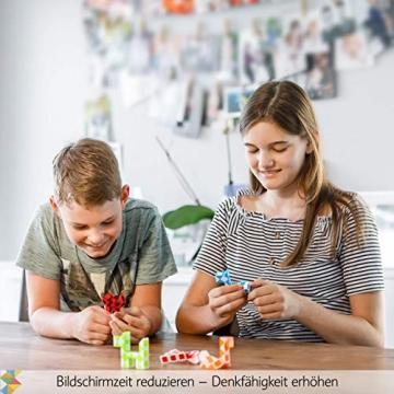 CUBIDI® 6 Mini Magic Snakes mit 24 Blöcken - Knobelspiele für Kinder und Erwachsene - Mitgebsel Kindergeburtstag oder kleine Geschenke für Kinder oder Kindergeburtstag Gastgeschenke - (6 Stück) - 8
