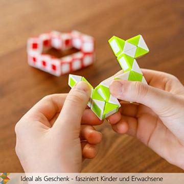 CUBIDI® 6 Mini Magic Snakes mit 24 Blöcken - Knobelspiele für Kinder und Erwachsene - Mitgebsel Kindergeburtstag oder kleine Geschenke für Kinder oder Kindergeburtstag Gastgeschenke - (6 Stück) - 9