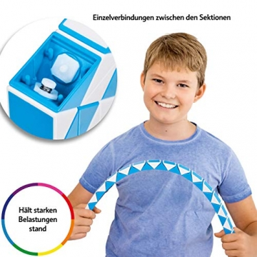 CUBIDI® Magic Snake mit 48 Blöcke - Knobelspiele für Kinder und Erwachsene - ideal als Mitgebsel Kindergeburtstag oder Kindergeburtstag Gastgeschenke oder kleine Geschenke für Kinder (Blau) - 5