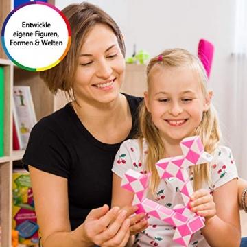 CUBIDI® Magic Snake mit 48 Blöcke - Knobelspiele für Kinder und Erwachsene - ideal als Mitgebsel Kindergeburtstag oder Kindergeburtstag Gastgeschenke oder kleine Geschenke für Kinder (Blau) - 7